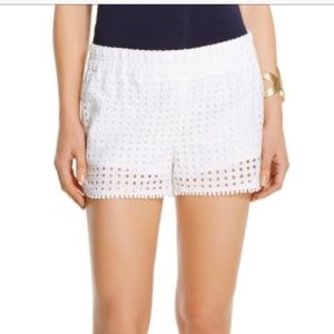 Lilly Pulitzer for Target white eyelet shorts NWT